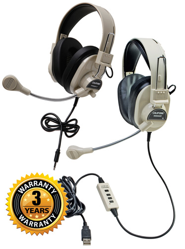 Deluxe Multimedia Headsets by Califone